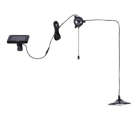 Tomshine 3W Outdoor Hanging Solar Powered LED 4 Lumiere 250LM Lampe Shed Pendentif avec telecommande pour le jardin Jardin Patio Balcon Maison Paysage