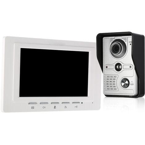 OWSOO Smart HD 1080P Interphone vid/éo sans Fil WI-FI Portier t/él/éphonique Visuel Cloche WiFi Cam/éra pour Les Appartements IR Alarme Cam/éra de s/écurit/é sans Fil avec Piles et Carillon Noir