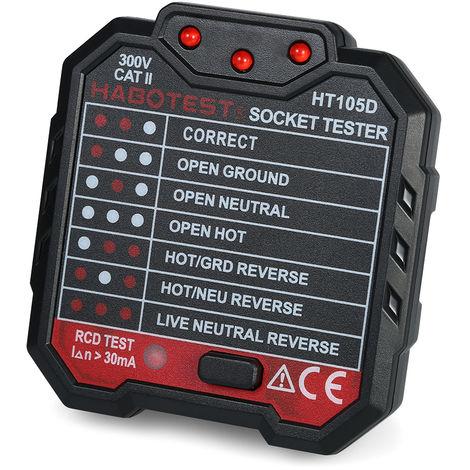 Habotest Testeur De Prises electriques Advanced Rcd