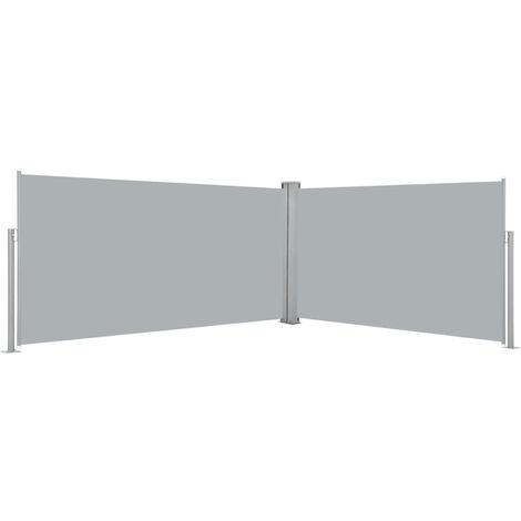 VidaXL Auvent lateral retractable gris de 160x600 cm