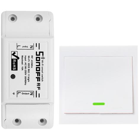 Commutateur De Commande Vocale Intelligent Wifi, Rf433Mhz, Sonoff, 1 Pc
