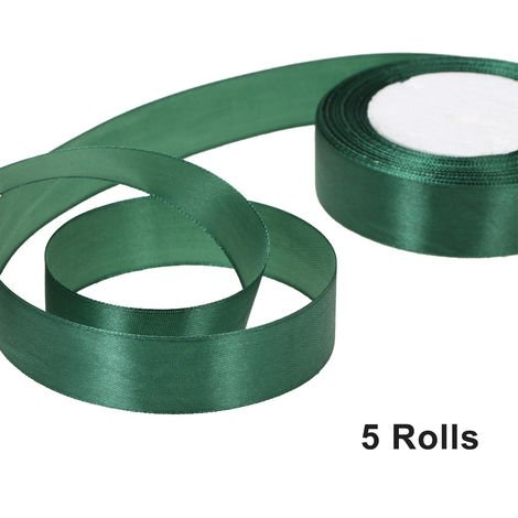 Ruban de satin de soie, decoration de fete, 25 verges / largeur de rouleau 25mm, 5 rouleaux