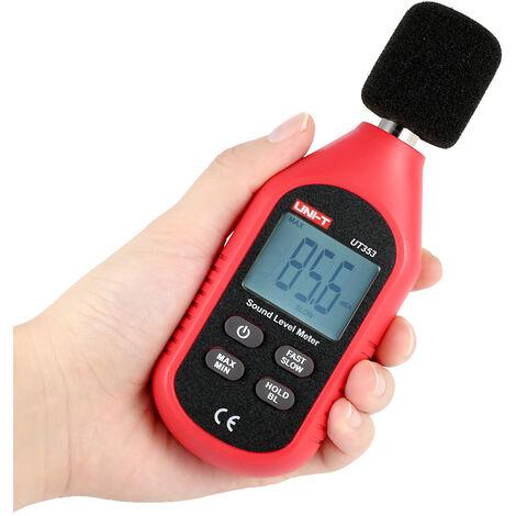 Sonometre Numerique A Ecran Lcd Uni-T Ut353, Instrument De Mesure Du Bruit, 30-130Db