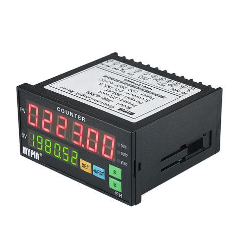 Compteur Numerique, Mesureur De Longueur Ac / Cc 90 ~ 265V, Avec 2 Sorties A Relais Et Impulsions