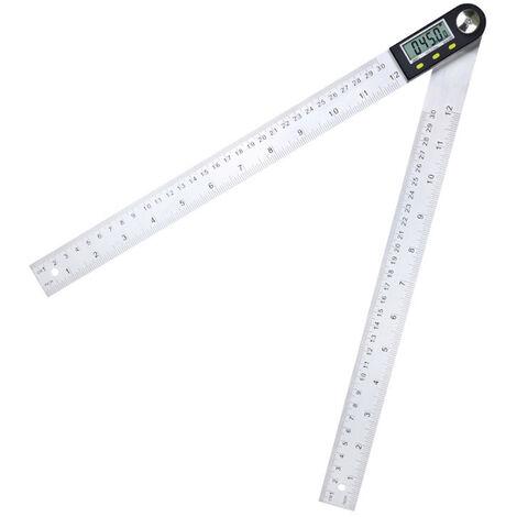 Rapporteur d'angle numerique a 360 degres avec regle a angle de 200 mm