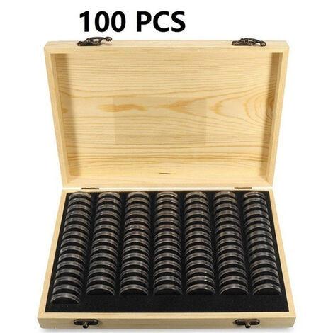 Boite De Rangement Pour Pieces De Monnaie, 100Pcs