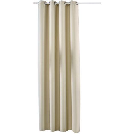 Rideaux A Isolation Thermique, Beige, 1 Panneau, 39X98Po