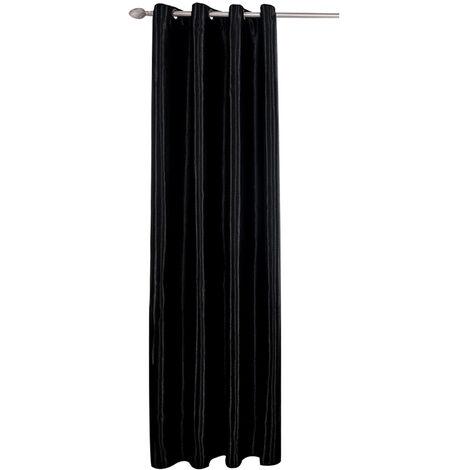 Rideaux A Isolation Thermique, Noir, 1 Panneau, 39X98Po