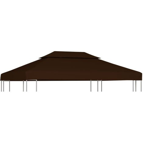 Toile superieure double de belvedere 310 g/m2 4x3 m Marron