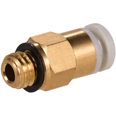 Aibecy Cp4-M6 Homme Droit Pneumatique Tube Pousser Montage Connecteur Compatible Pour Cr-10 Ender 3 Extrudeuse 3D Printer
