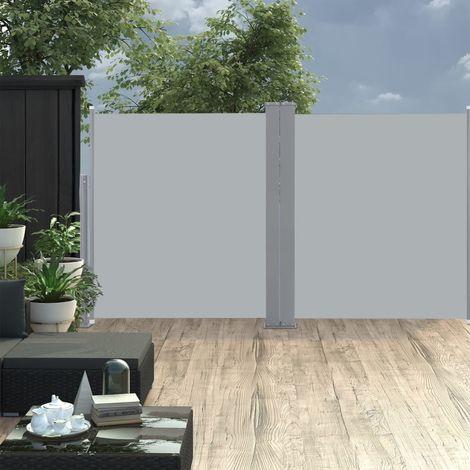 Auvent lateral double retractable de patio 170x600cm Anthracite