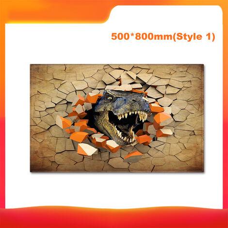 50 * 80Cm Imprime 3D Dinosaur Motif Tapis De Sol Moquette Douce Flanner Paillasson Salon Chambre Tapis