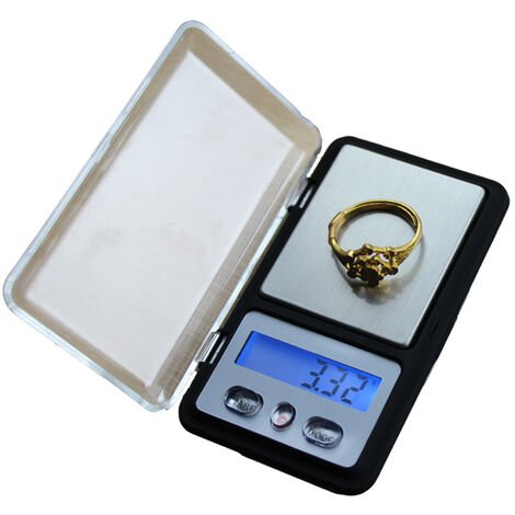 balance Electronique de Précision 0.01-200 gr LCD de poche grammage precis fr