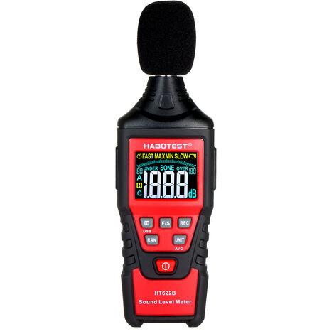 Habotest Ht622B Numerique Decibel Metres Avec Un Port Usb A / C Pondere Sonometre Lcd Couleur De Poche A Ecran Sonore, Ht622B