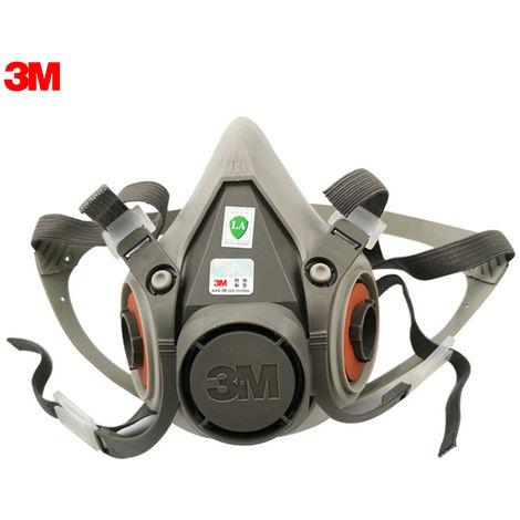 3M 6200 Masques Demi-Masque Facial Protection Respiratoire Visage Bio Anti-Poussiere Masque Anti Haze Peinture Spraying