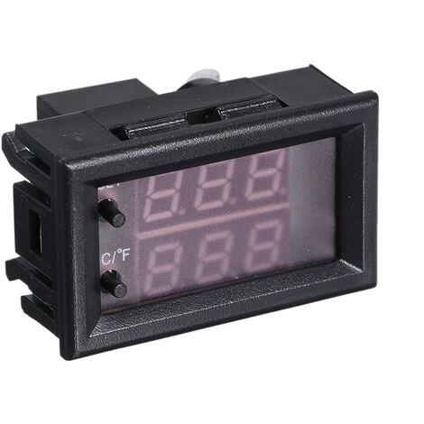 Dc 12V Programmable Led Thermostat Numerique Regulateur Mini Microordinateur Controle Thermometre Temperature Reglable Controleur Thermocontact Module + Ntc Capteur