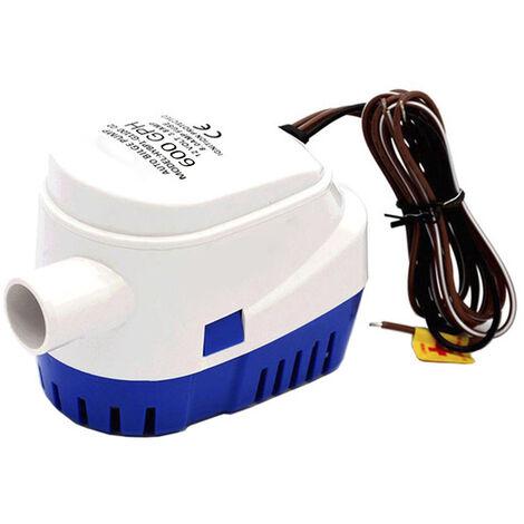 Automatique Pompe De Cale Submersible Bateau Pompe A Eau Electrique Avec Interrupteur A Flotteur Marine Equipment, 600Gph 24V