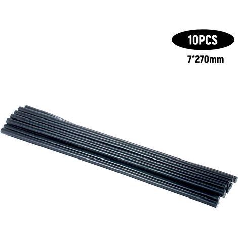 10Pcs Haute Temperature Resistant Adhesif Thermofusible Bar Colle Protection De L'Environnement Manuel Caoutchouc Baton Black Bar 7 * 270Mm