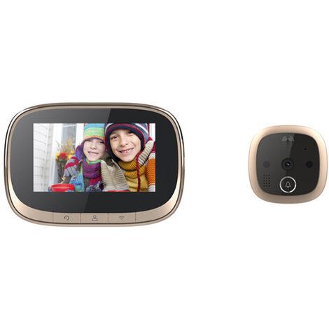 W2 Video Sonnette Judas Camera De Securite Pour Smart Home Vision 720P Grand Angle De Vision Camera Ecran Lcd 5,6 Pouces Visuel Viewer Porte Numerique Pour Smart Home Systeme D'Alarme Support De Travail Wifi App Controle