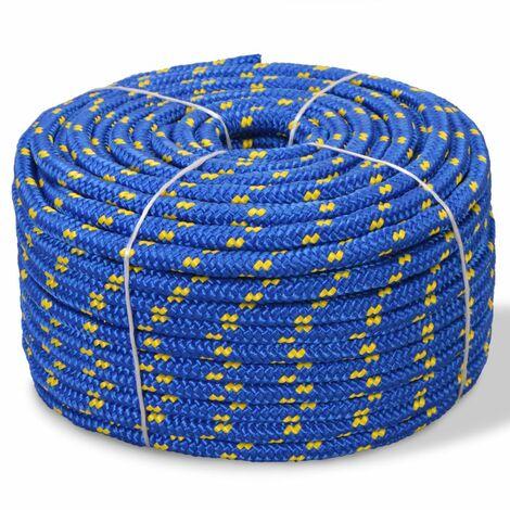 Corde de bateau Polypropylene 8 mm 100 m Bleu