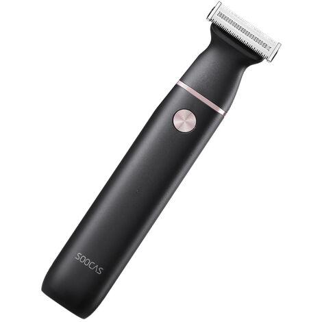 Tondeuse Electrique Cheveux Rasoir Rechargeable Sans Fil Tondeuse A Cheveux Etanche Epilation A Sec Et Humide Corps Machine Trimmer Pour Hommes, Noir