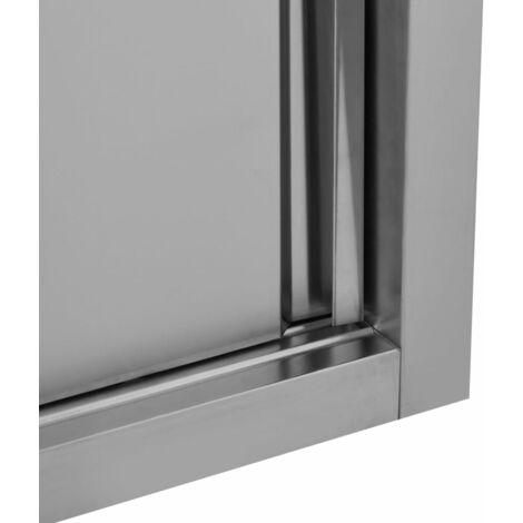 Armoire de cuisine avec portes coulissantes 150x40x50 cm Inox
