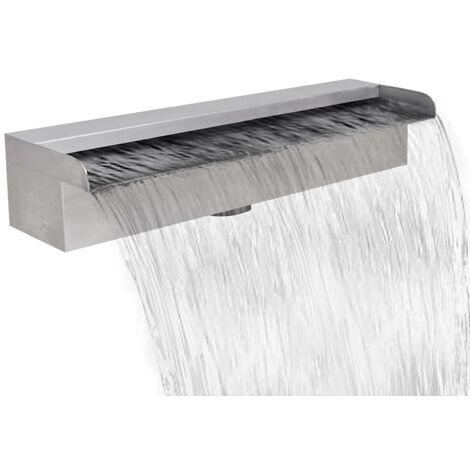 Lame d'eau rectangulaire pour piscine en acier inoxydable 45 cm