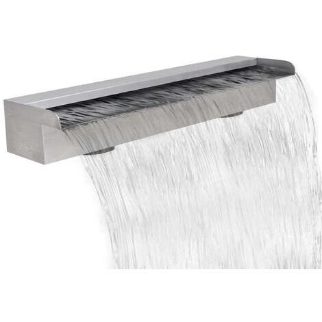 Lame d'eau rectangulaire pour piscine en acier inoxydable 60 cm