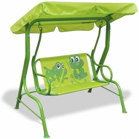 Siege balancoire pour enfants vert