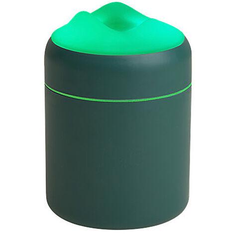 Humidificateur Grande Capacite Usb Mute Humidification Air Fresher Accueil Utilisation De Pc De Bureau Night Light Mist Diffuseur D'Air, Vert