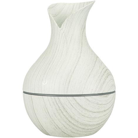 Usb Humidificateur Diffuseur D'Huiles Aroma 130Ml Mist Maker 7 Cool Led Couleur Lumieres Lumiere De Nuit Pour Bureau, Bois Blanc