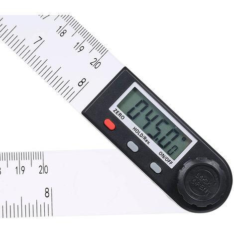 0-200Mm Multifonctions Ecran Lcd Numerique Angle Regle 360 ??¡ã Electronique Goniometre Outil De Mesure Avec Protractor Attente Et Mise A Zero Fonction