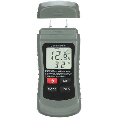 Bois Humidimetre Lcd Damp Testeur D'Humidite Broche Type Fuite D'Eau Et D'Humidite Detecteur Avec 4 Modes De Maintien Des Donnees ¡æ / ¨H Meter Temperature