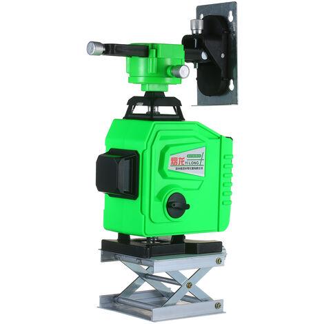 Niveau Laser Outil 4¡Á360 ¡ã Vert Faisceau Autolissant 98Ft Horizontale Et Verticale Et Cross Niveau Laser Etanche Ip54 Exterieur Laser Nivellement Outil Avec 2 Batterie Rechargeable