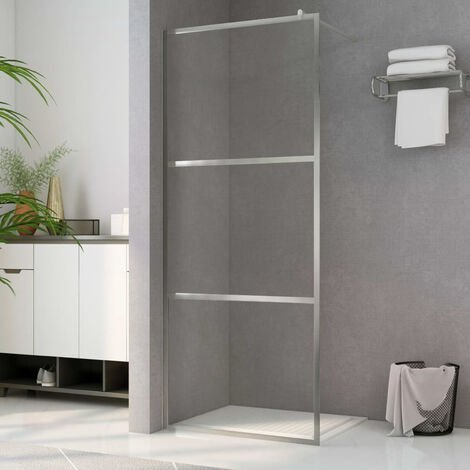 Paroi de douche a l'italienne a verre ESG transparent 115x195cm