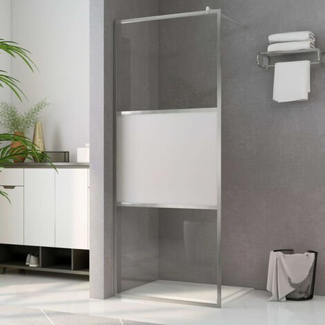 Paroi de douche a l'italienne a verre ESG demi-depoli 115x195cm