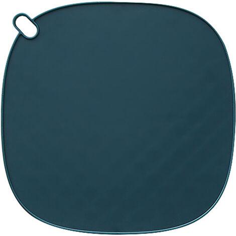 Maniques Resistant A La Chaleur Pot Trivet Mat Support Tapis Antiderapant Tpr Chaud Maniques, Bleu Fonce