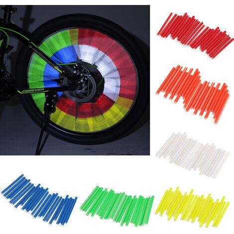 Clip Reflechissant De Roue De Bicyclette 24Pcs, Lumiere Decorative De Bicyclette 75Mm, Vert