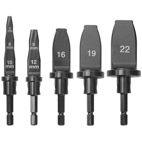 5Pcs Tubes Tube Expander Utilitaire Outil Matricage Outils Climatiseur Pipes Cuivre Expand 10 Mm 12 Mm 16 Mm 19 Mm 22 Mm Utility Tool Set