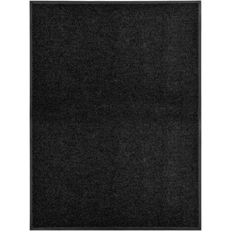 Paillasson lavable Noir 90x120 cm