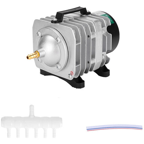Commercial Pompe A Air Simple Sortie 6 Manifold Pour Aquarium Fish Tank Fontaine Etang Hydroponique, 25W EU