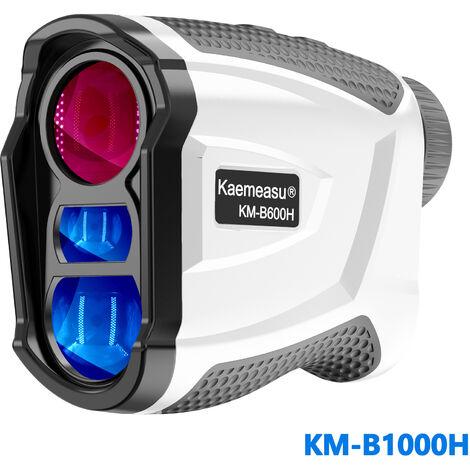 Telemetre Laser, Telescope De Golf Exterieur, Telemetre Monoculaire Numerique, Blanc, Ecran Lcd Integre, Modele Km-B1000H