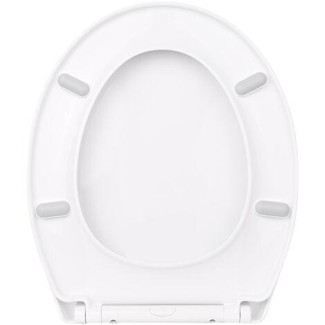 Kkmoon Epaissie O-Forme Toilet Couvercle Pp Universel Toilettes Couverture Slow Down One-Click Installation Toilettes Sieges Couverture P2004