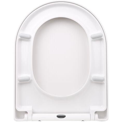 Kkmoon Epaissie En Forme De D Couvercle Pp Wc Universel Toilettes Couverture Slow Down One-Click Installation Toilettes Sieges Couverture U2002