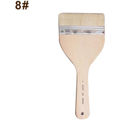 Peinture Professionnelle Brosse Cheveux Doux Poignee En Bois Aquarelle Pinceau De Grande Taille Pour La Peinture Gouache Acrylique Huile Fournitures D'Art, No.8