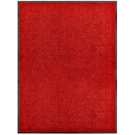 Paillasson lavable Rouge 90x120 cm