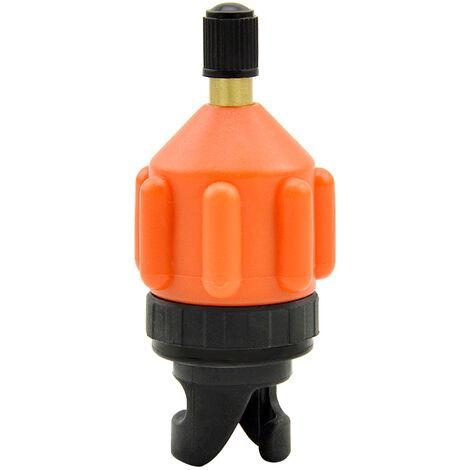 Adaptateur De Pompe Sup Pour Bateau Gonflable, Convertisseur De Pompe A Air, Adaptateur De Valve D'Air, Orange Noir