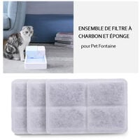 Filtre a Eau Au Charbon 3Pcs Pour Distributeur D'Eau Pour Animaux De Compagnie