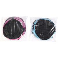 Tunnel pour chat, trois sorties, 24 cm de diametre, noir et rose