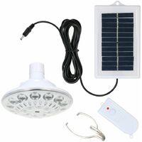 Lampe Solaire, 100Lm, 3 Modes D'eclairage, Avec Telecommande On / Off, 22 Led